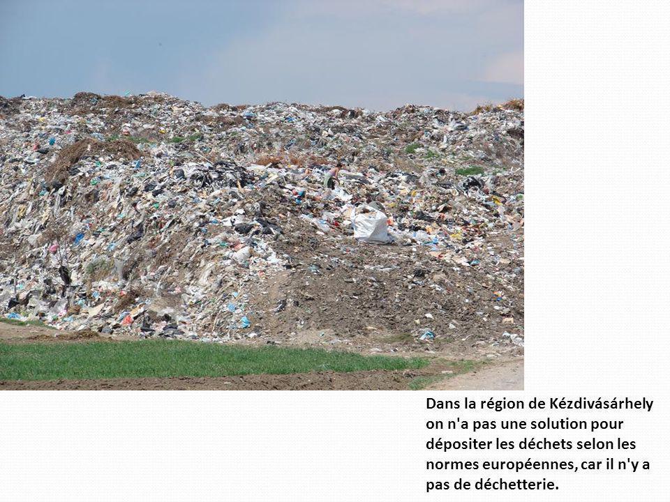 Dans la région de Kézdivásárhely on n'a pas une solution pour dépositer les déchets selon les normes européennes, car il n'y a pas de déchetterie.