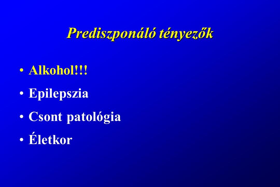 Tünettan - biztos jelek Látható alakváltozás Kóros mozgathatóság Crepitatio (csontrecsegés)