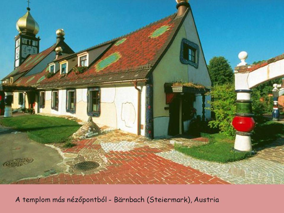 St. Barbara templom, a bányászok védőszentje - Bärnbach, Austria Épült 1948-ban, restaurálva és újradíszítve 1988-ban F.Hundertwasser tervei alapján.