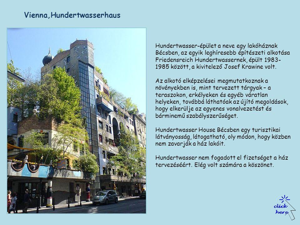 Kunsthaus homlokzata - Rogner Bad Bluamu,Austria, a bécsi Kunsthaus mintájára készült Friedensreich Hundertwasser tervei alapján..
