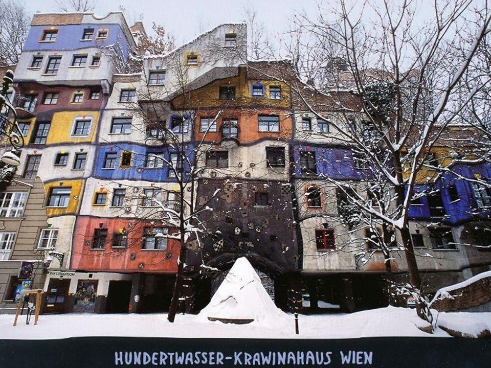Vienna,Hundertwasserhaus Hundertwasser-épület a neve egy lakóháznak Bécsben, az egyik leghíresebb építészeti alkotása Friedensreich Hundertwassernek,
