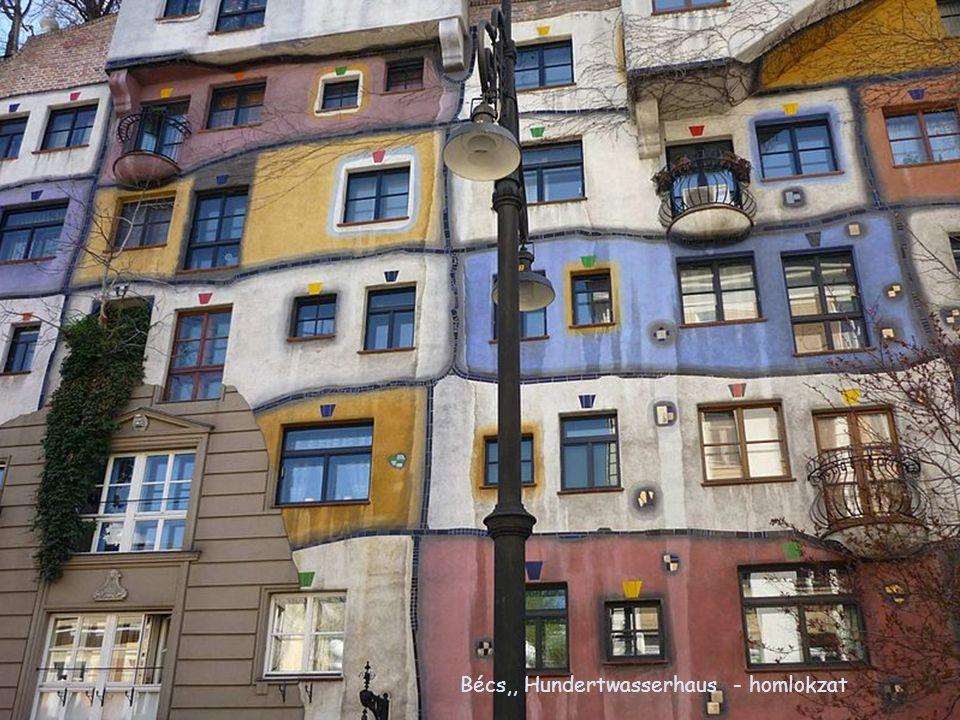 Bécs,, Hundertwasserhaus - homlokzat