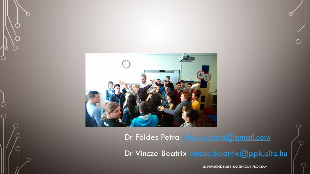 Dr Földes Petra foldes.petra@gmail.comfoldes.petra@gmail.com Dr Vincze Beatrix vincze.beatrix@ppk.elte.huvincze.beatrix@ppk.elte.hu ÚJ NEMZEDÉK PLUSZ