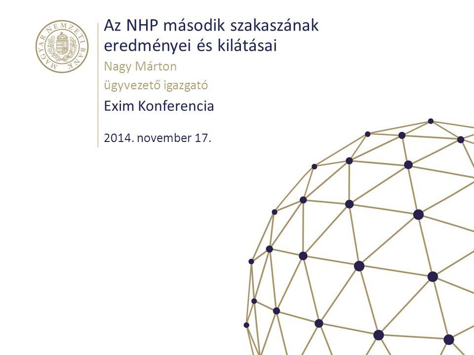 Az NHP második szakaszának eredményei és kilátásai Exim Konferencia Nagy Márton ügyvezető igazgató 2014.