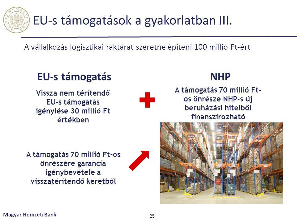EU-s támogatások a gyakorlatban III.