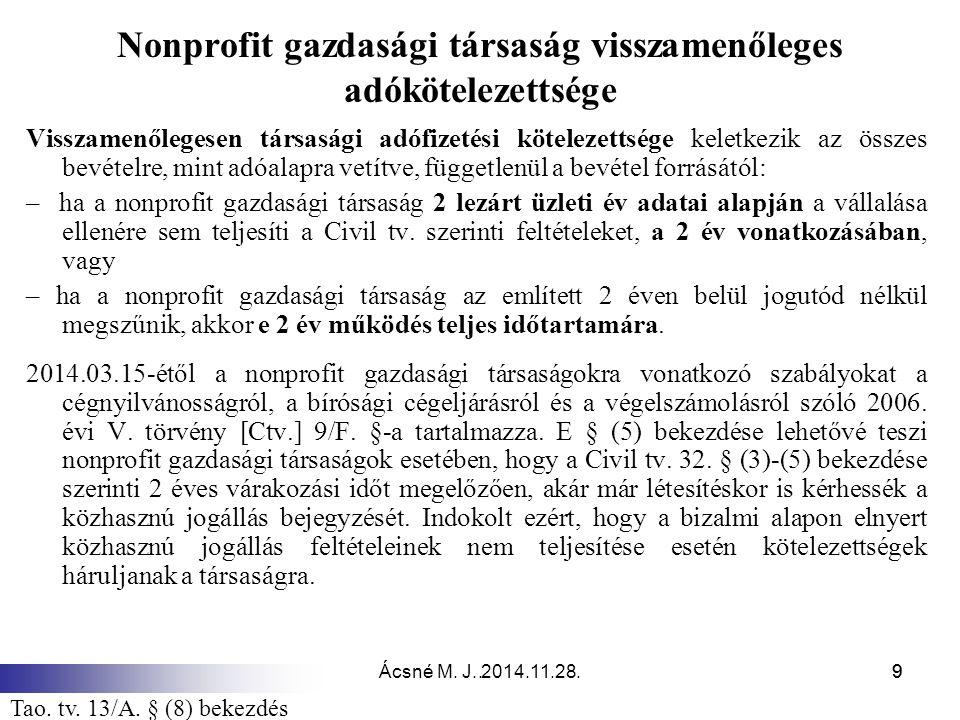 Ácsné M.J. 2014.11.28.30 Adófelajánlás új rendszere 6.