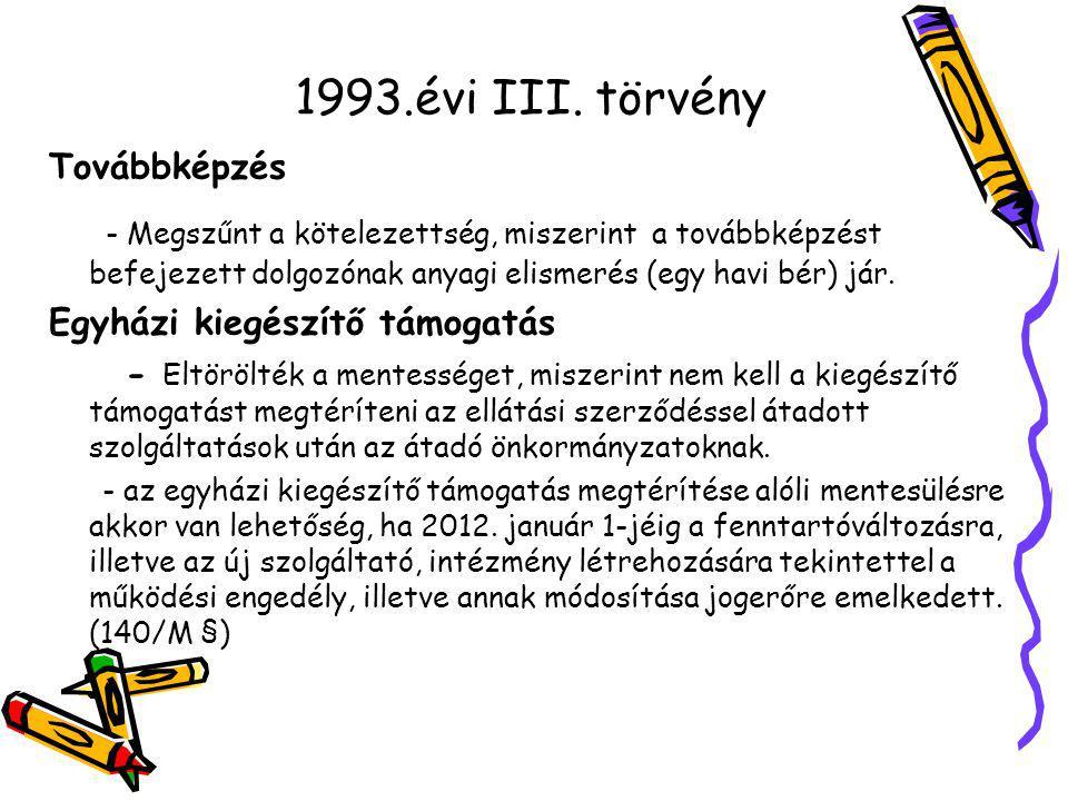 1993.évi III.törvény Térítési díj - 115.