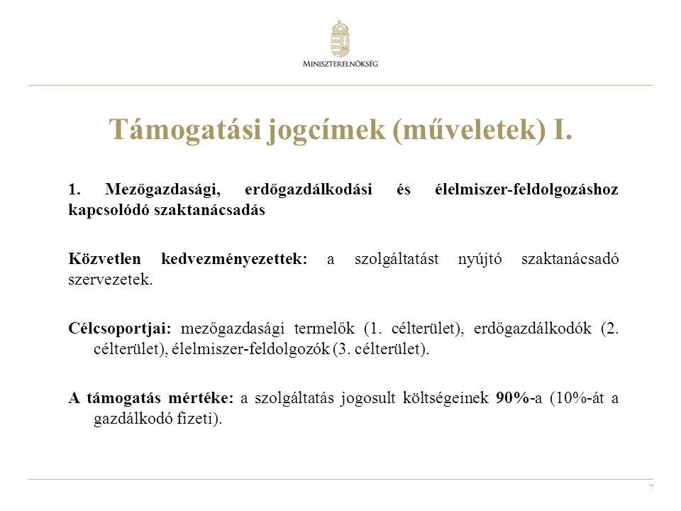 8 Támogatási jogcímek (műveletek) II.2.