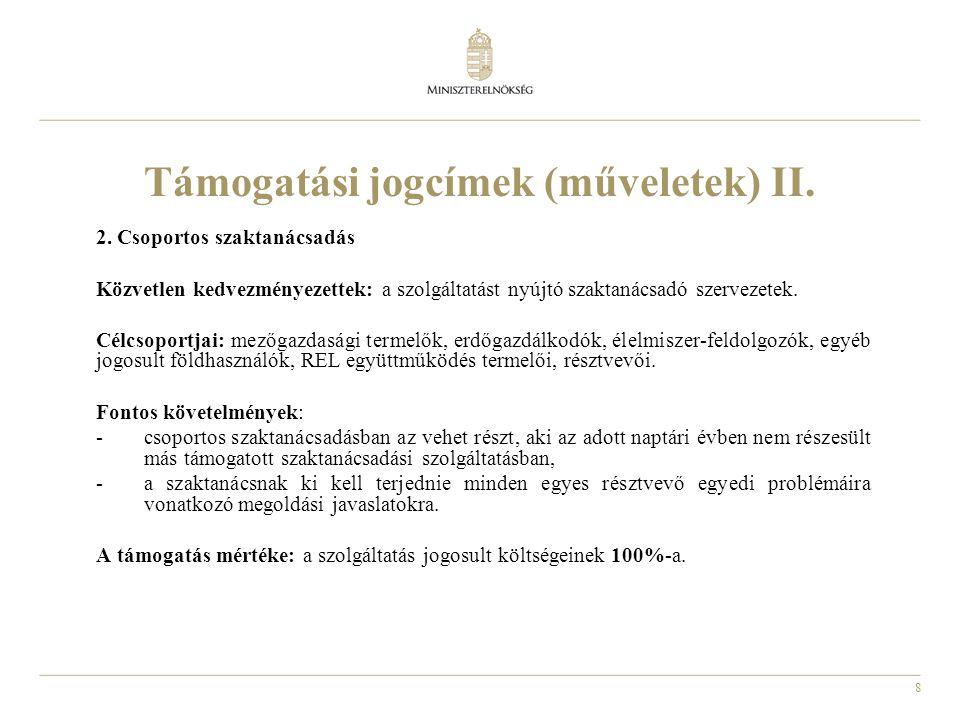 9 Támogatási jogcímek (műveletek) III.3.