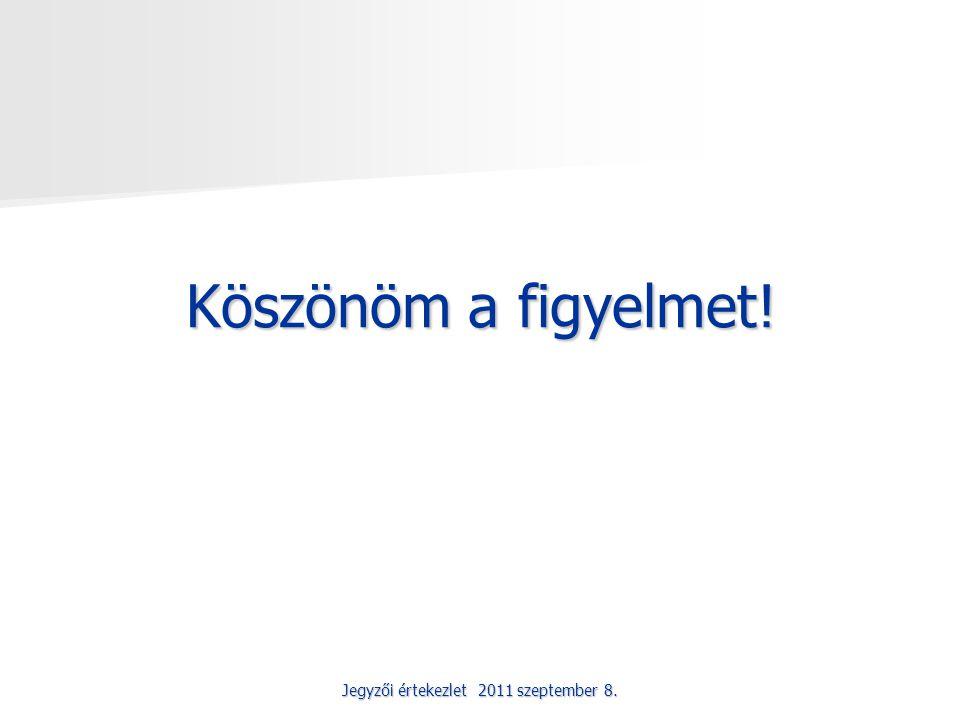 Jegyzői értekezlet 2011 szeptember 8. Köszönöm a figyelmet!