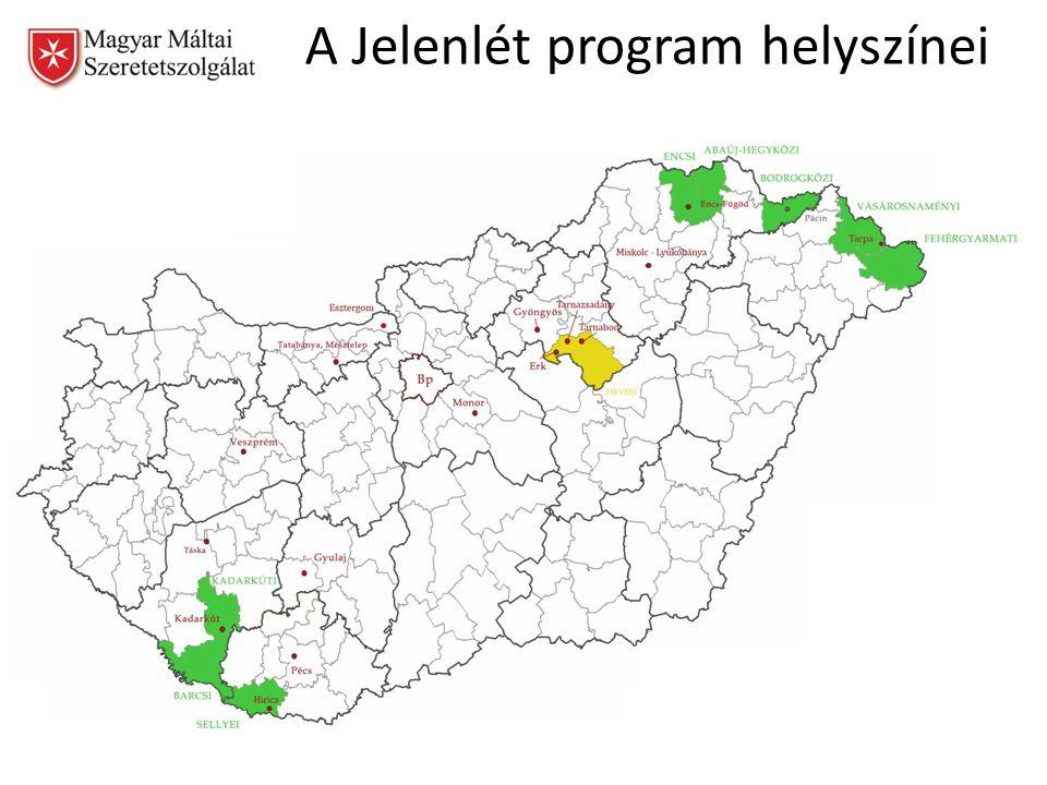 A Jelenlét program helyszínei