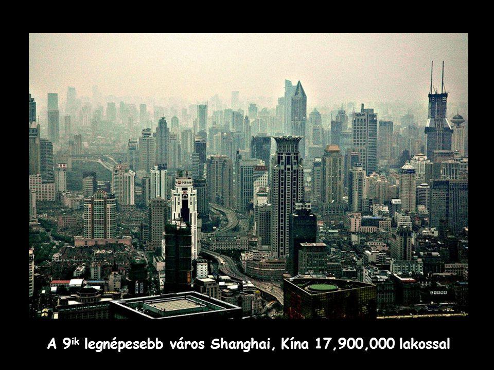 A 10 ik helyet Jakarta, Indonézia foglalja el 17,150,000 millió lakossal