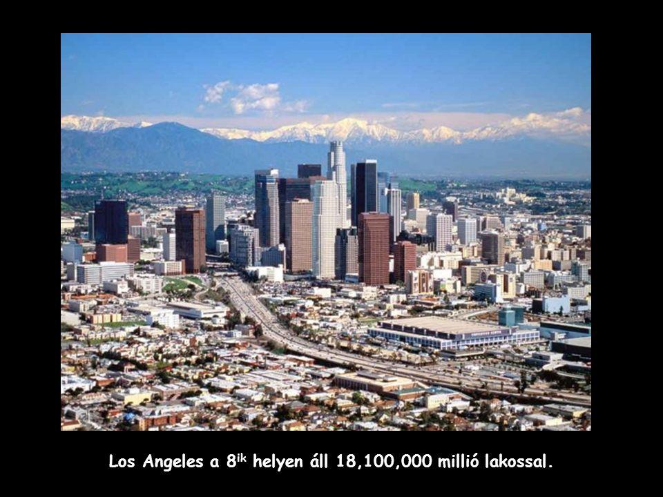 A 9 ik legnépesebb város Shanghai, Kína 17,900,000 lakossal