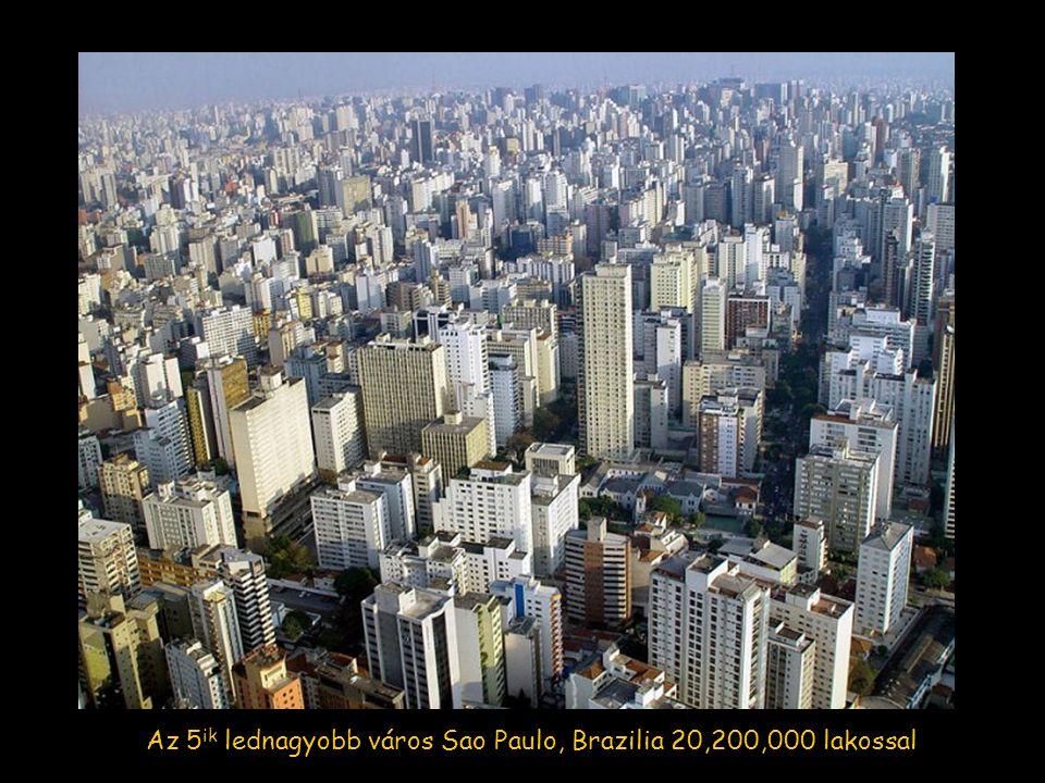 A 6 ik helyet Mumbai (Bombay), India illeti meg 19,700,000 lakossal