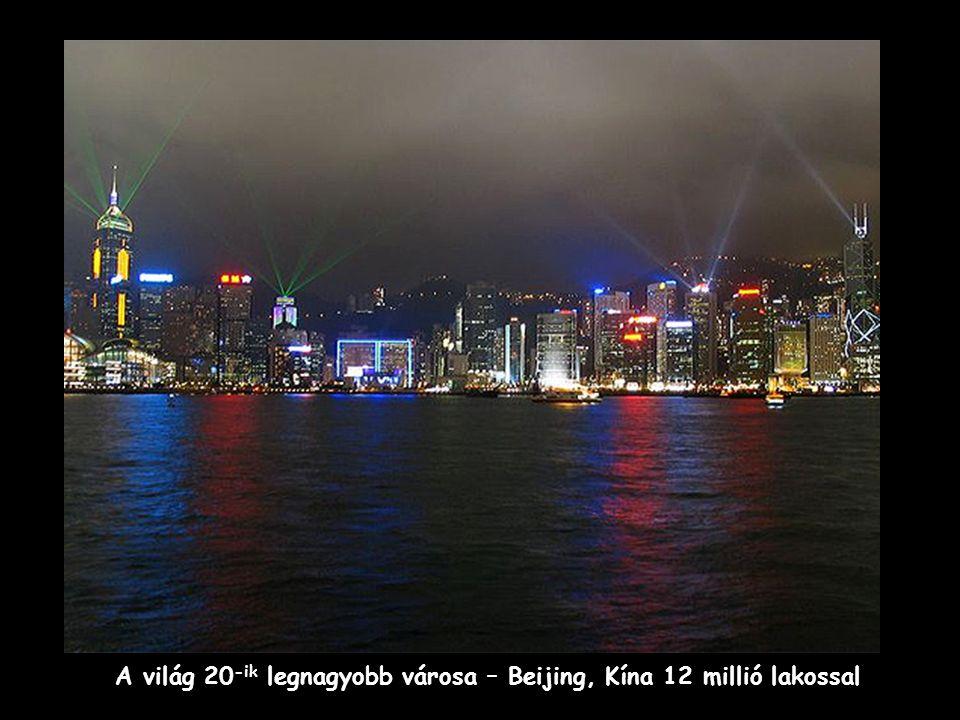 A világ 20 -ik legnagyobb városa – Beijing, Kína 12 millió lakossal