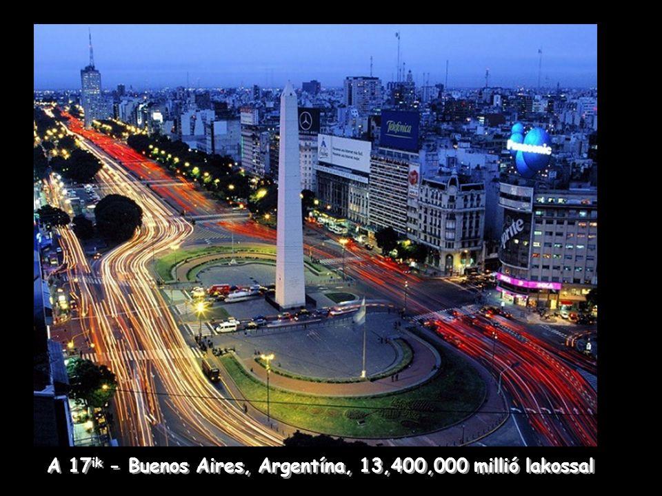 Delhi, India a 7 ik legnépesebb város 19,500,000 millió lakossal.