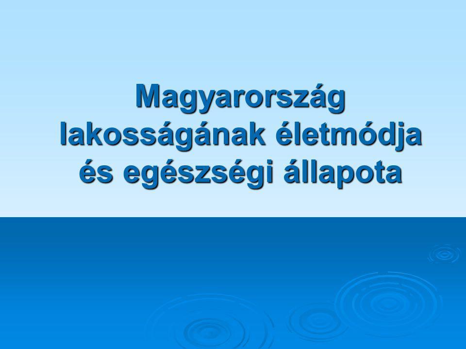 Magyarország lakosságának életmódja és egészségi állapota