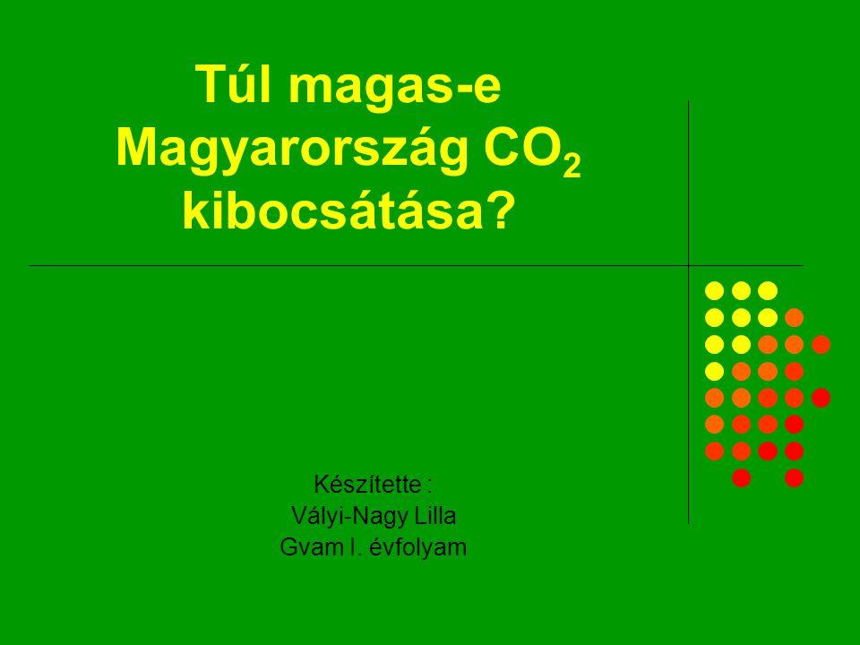 Túl magas-e Magyarország CO 2 kibocsátása? Készítette : Vályi-Nagy Lilla Gvam I. évfolyam