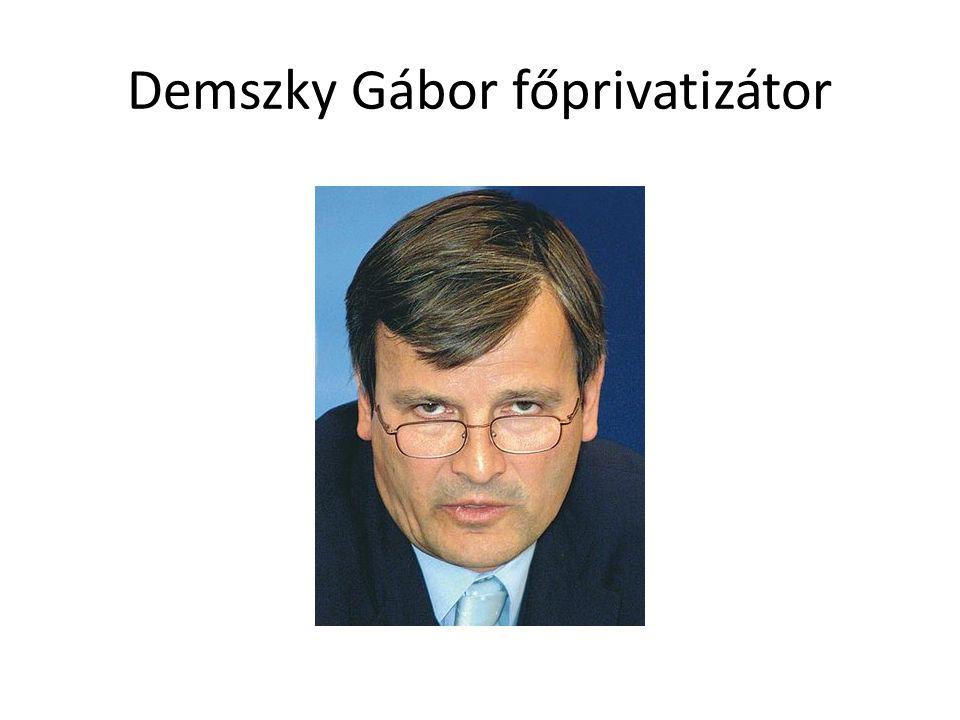 Demszky Gábor főprivatizátor