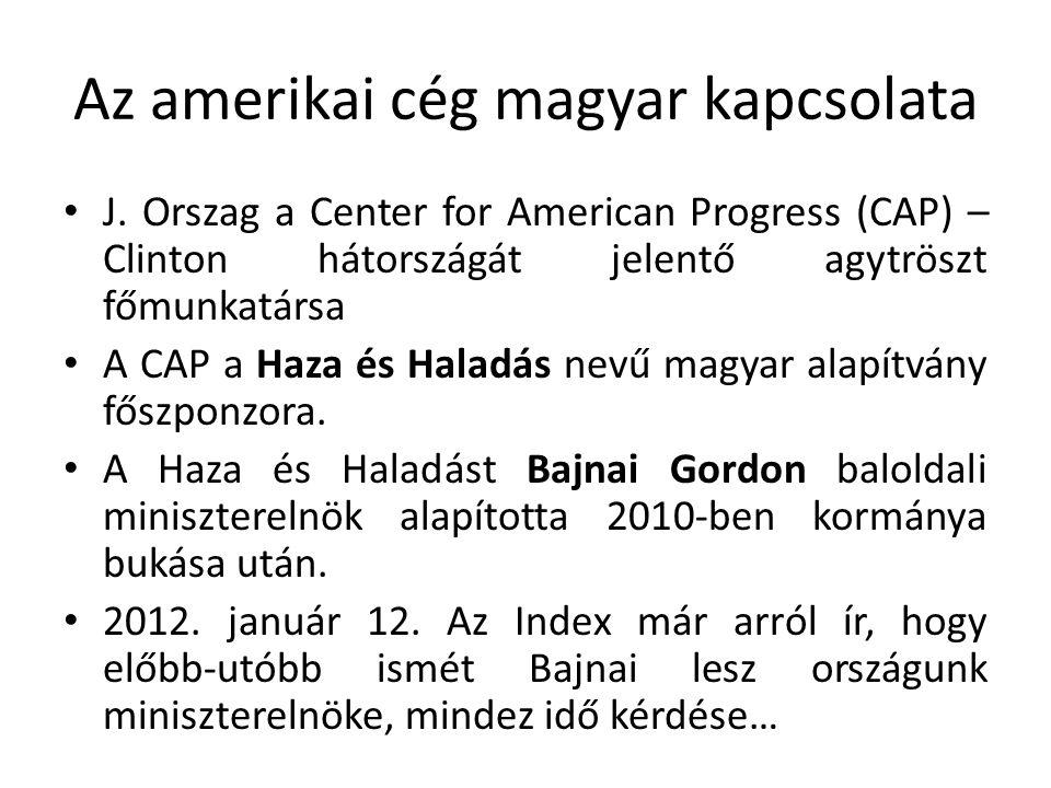 Az amerikai cég magyar kapcsolata J.