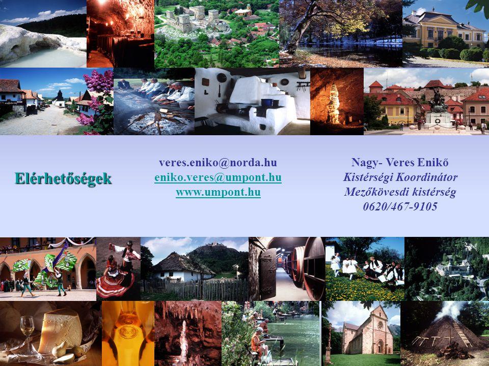 Elérhetőségek Nagy- Veres Enikő Kistérségi Koordinátor Mezőkövesdi kistérség 0620/467-9105 veres.eniko@norda.hu eniko.veres@umpont.hu www.umpont.hu