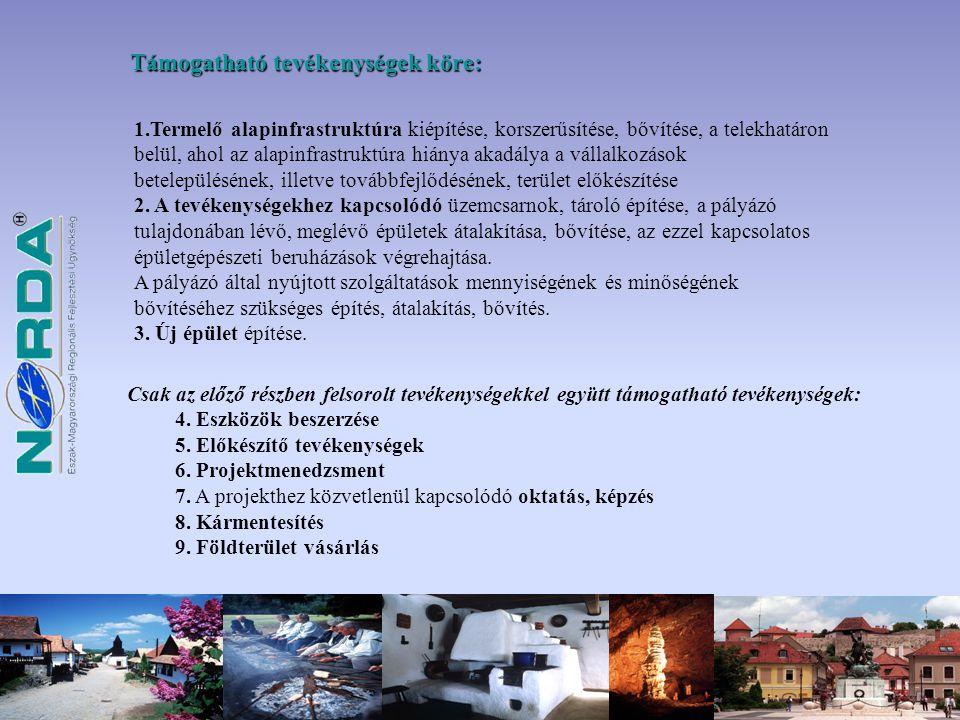 Pályázati benyújtási időszak : 2009.03.16.-2010.02.15.