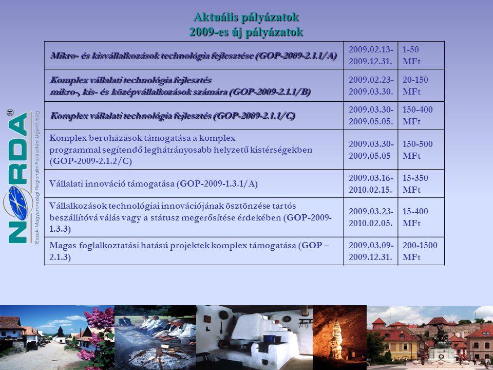 Pályázati benyújtási időszak : 2009.02.13.-2009.12.31.