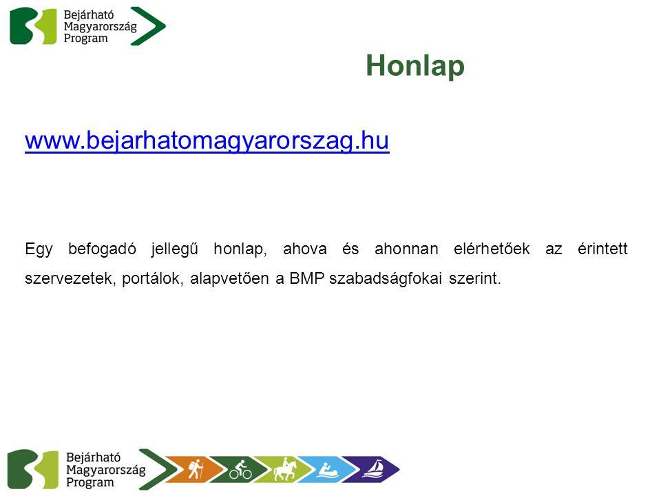 Honlap www.bejarhatomagyarorszag.hu Egy befogadó jellegű honlap, ahova és ahonnan elérhetőek az érintett szervezetek, portálok, alapvetően a BMP szaba