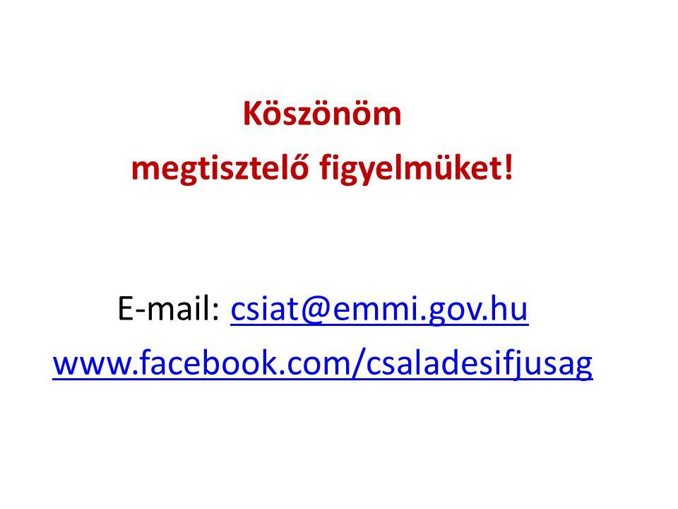Köszönöm megtisztelő figyelmüket! E-mail: csiat@emmi.gov.hucsiat@emmi.gov.hu www.facebook.com/csaladesifjusag