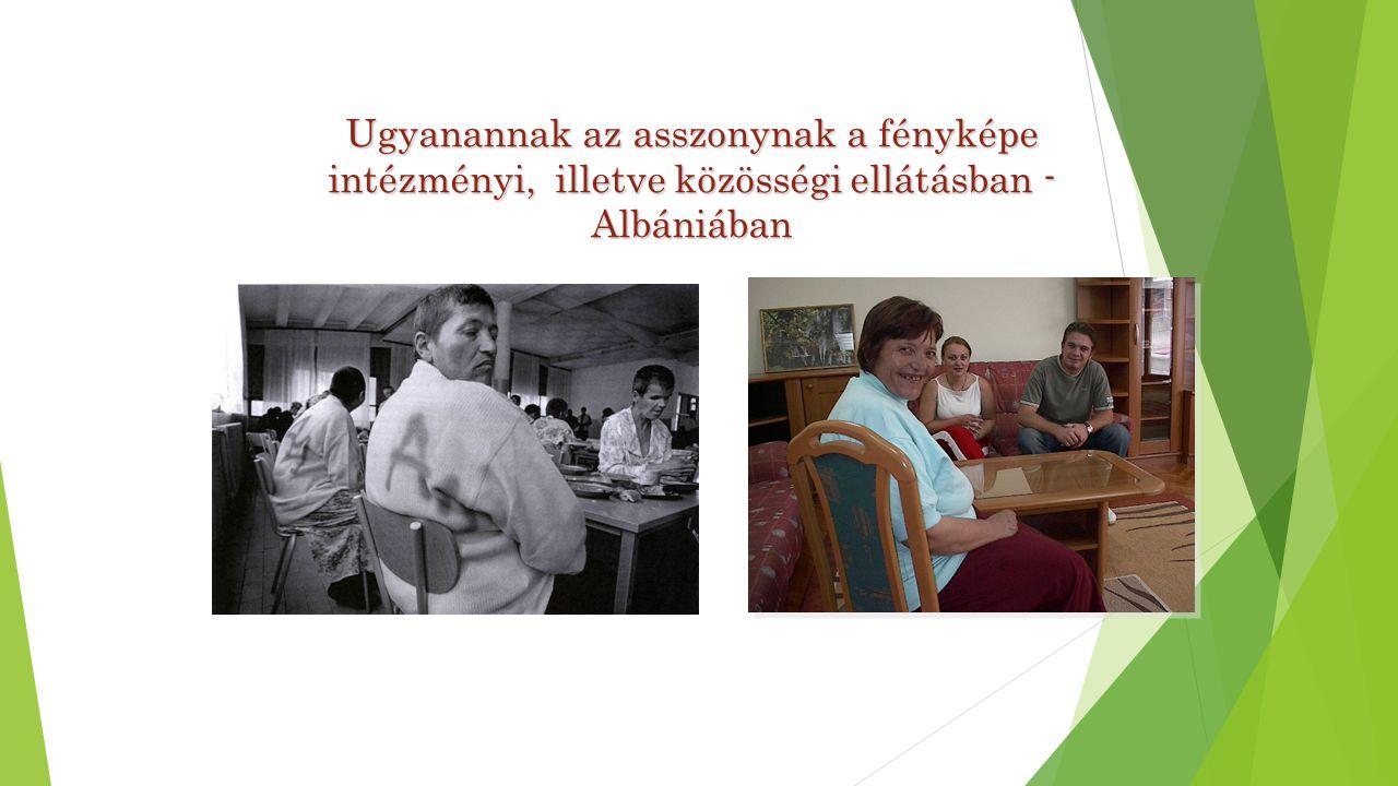 Mental Health Programme Ugyanannak az asszonynak a fényképe intézményi, illetve közösségi ellátásban - Albániában