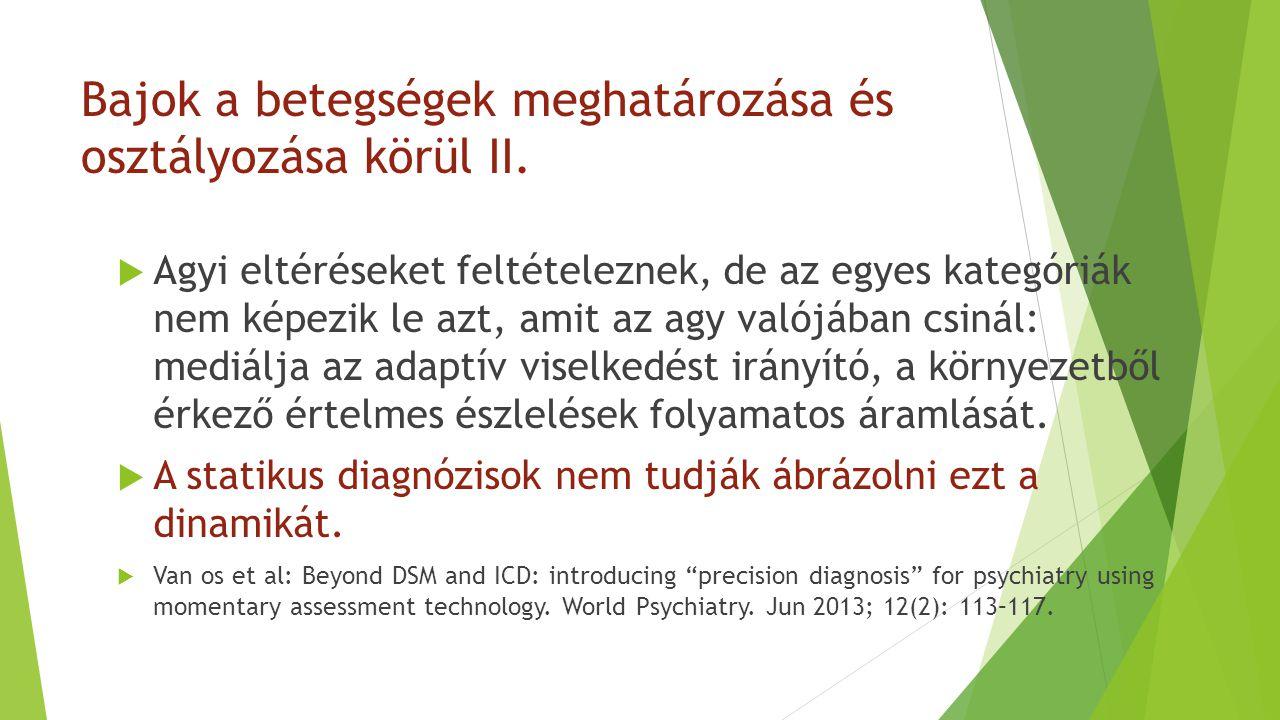 Bajok a betegségek meghatározása és osztályozása körül II.  Agyi eltéréseket feltételeznek, de az egyes kategóriák nem képezik le azt, amit az agy va