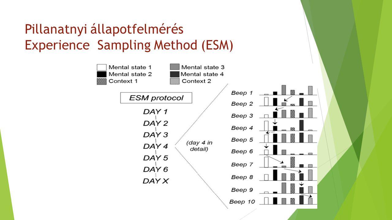 Pillanatnyi állapotfelmérés Experience Sampling Method (ESM)