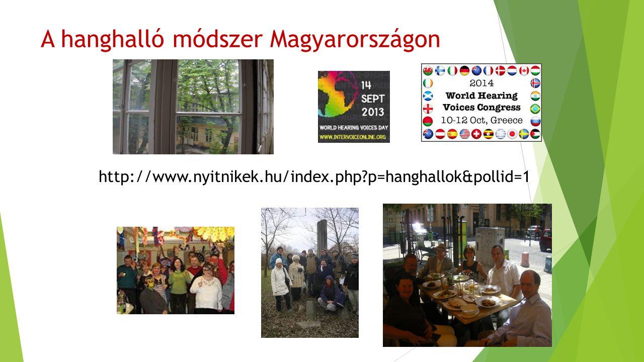 A hanghalló módszer Magyarországon http://www.nyitnikek.hu/index.php?p=hanghallok&pollid=1