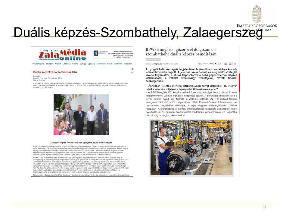 Duális képzés-Szombathely, Zalaegerszeg 17