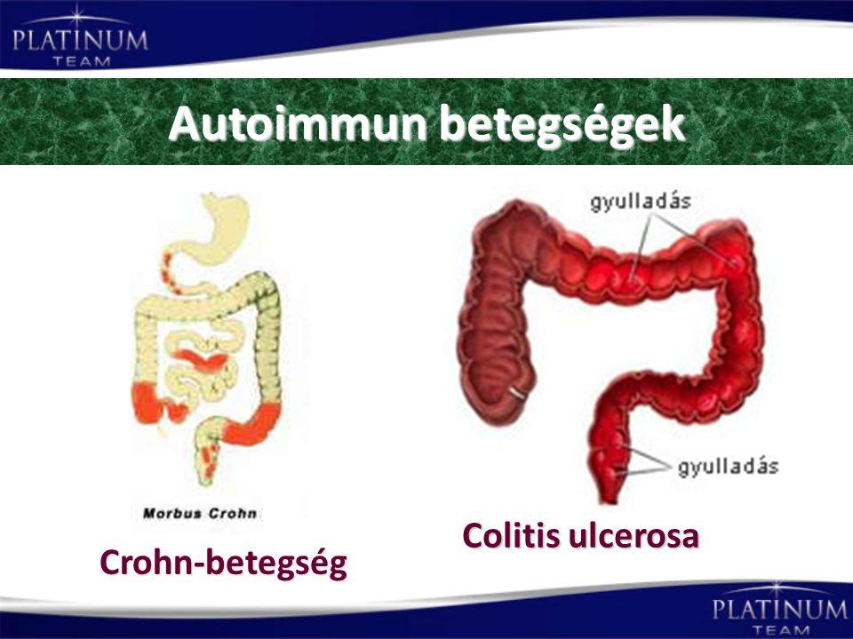 Autoimmun betegségek Crohn-betegség Colitis ulcerosa