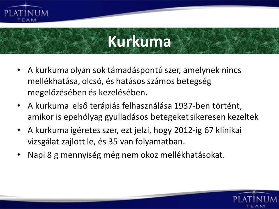 Kurkuma A kurkuma olyan sok támadáspontú szer, amelynek nincs mellékhatása, olcsó, és hatásos számos betegség megelőzésében és kezelésében.