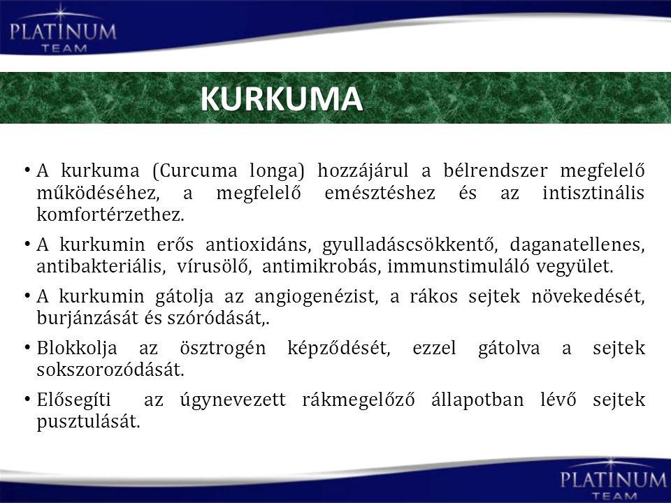A kurkuma (Curcuma longa) hozzájárul a bélrendszer megfelelő működéséhez, a megfelelő emésztéshez és az intisztinális komfortérzethez.