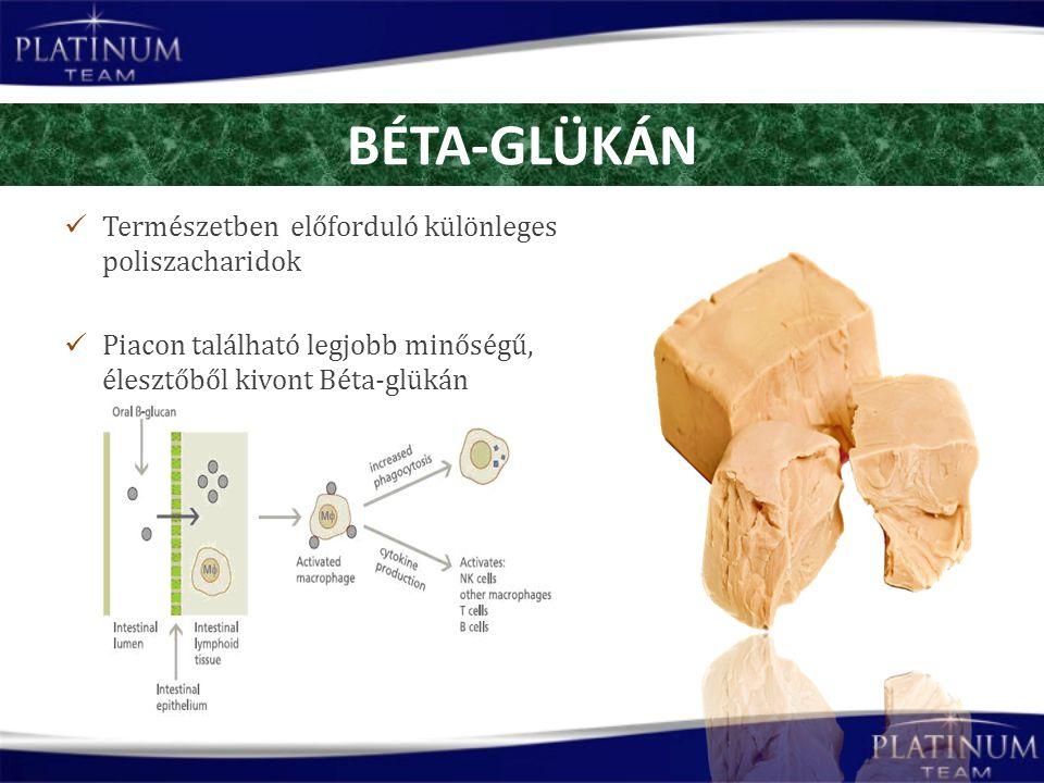 Természetben előforduló különleges poliszacharidok Piacon található legjobb minőségű, élesztőből kivont Béta-glükán BÉTA-GLÜKÁN