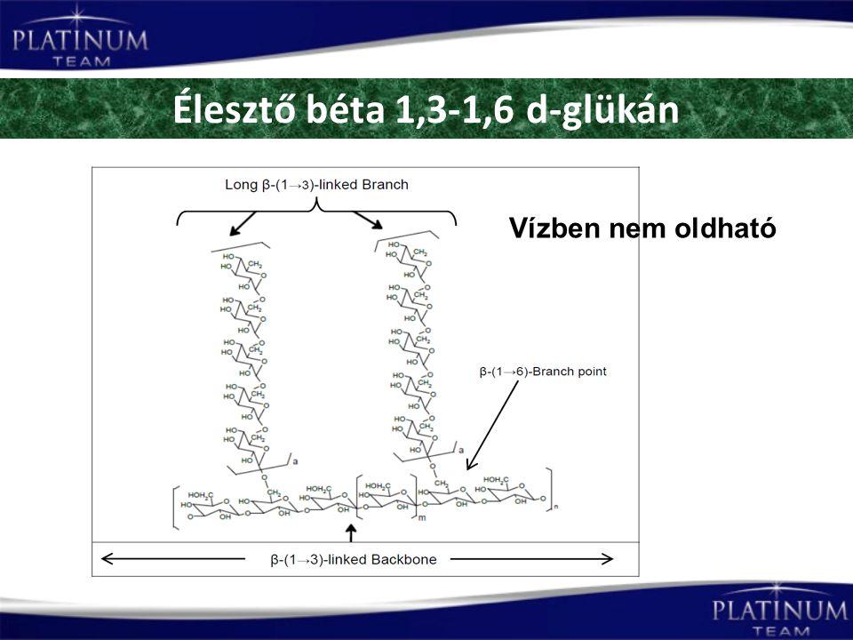 Élesztő béta 1,3-1,6 d-glükán Vízben nem oldható
