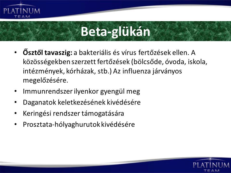 Beta-glükán Ősztől tavaszig: a bakteriális és vírus fertőzések ellen.