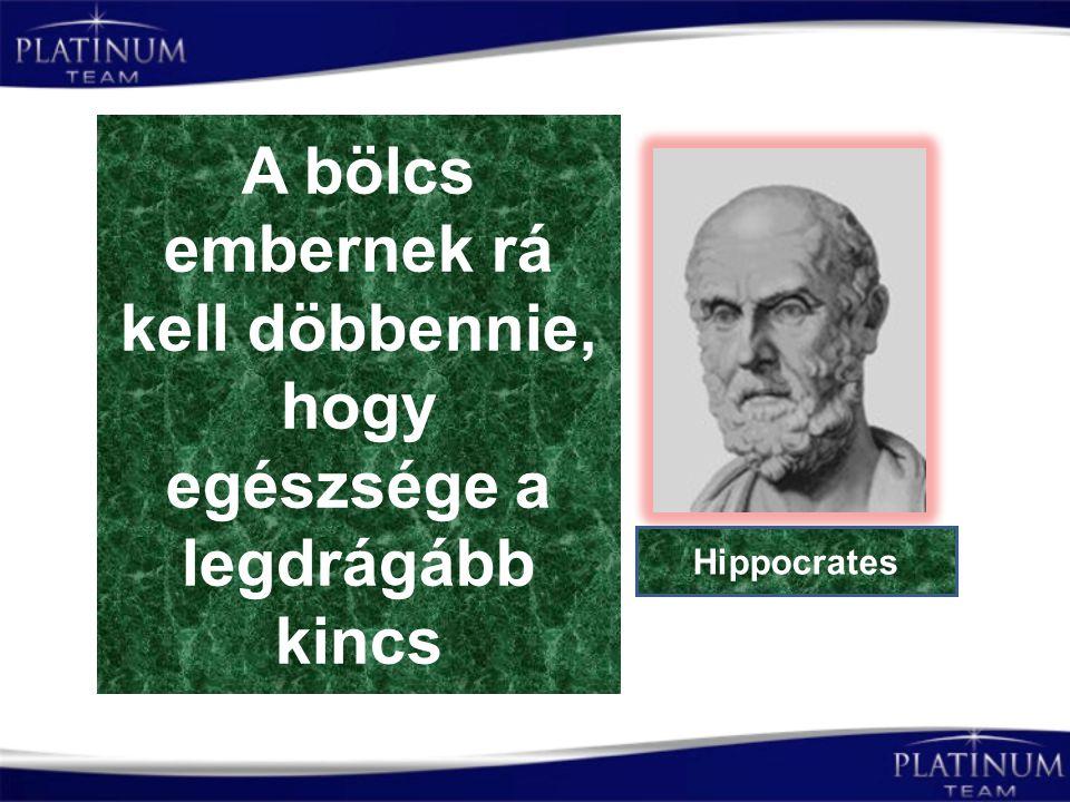 A bölcs embernek rá kell döbbennie, hogy egészsége a legdrágább kincs Hippocrates