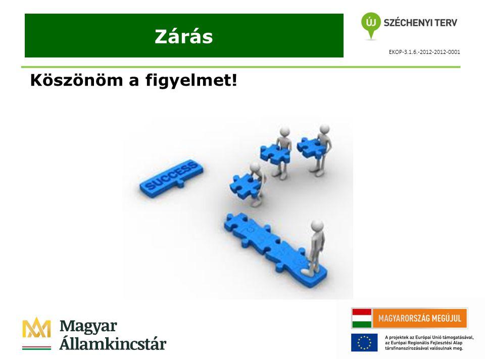 EKOP-3.1.6.-2012-2012-0001 Zárás Köszönöm a figyelmet!