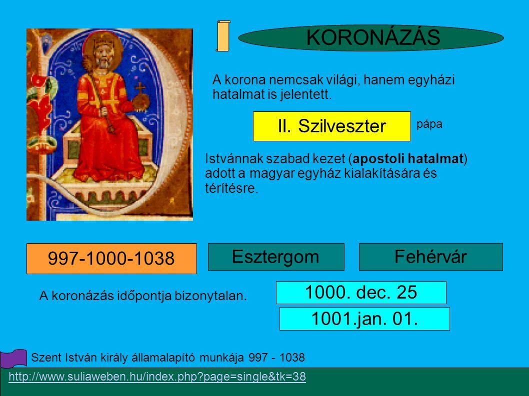 1001.jan.01. Esztergom 997-1000-1038 II.