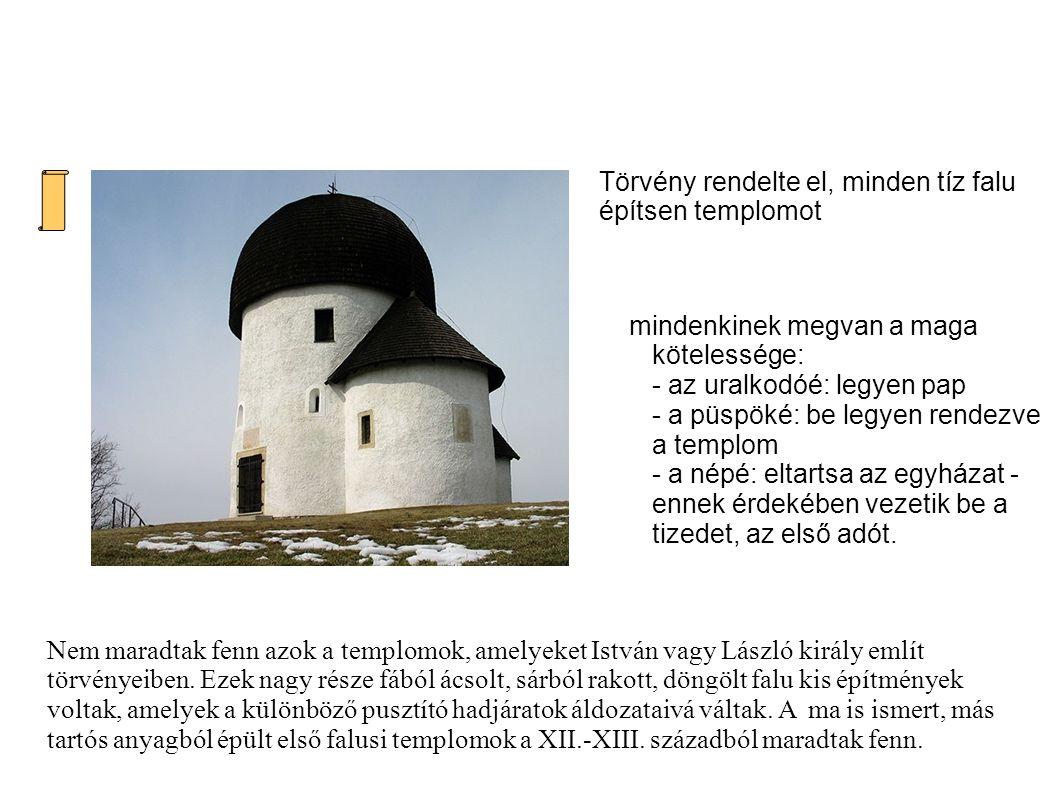 Kolostorok Zalavári romok Pannonhalma – Bencés apátság Pécsvárad Az uralkodó a keresztény egyház megszervezésén túl gondoskodott az új vallásnak megfelelő kultúra létrehozásáról is.