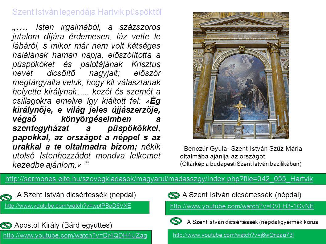 Benczúr Gyula- Szent István Szűz Mária oltalmába ajánlja az országot.