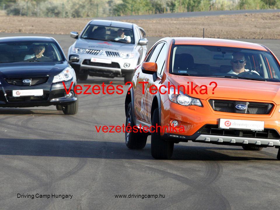 Vezetés? Technika? vezetéstechnika Driving Camp Hungarywww.drivingcamp.hu