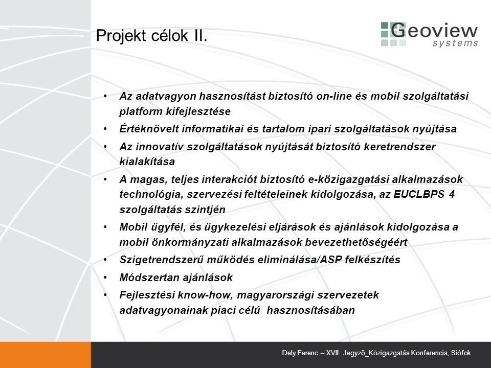 Projekt célok II.