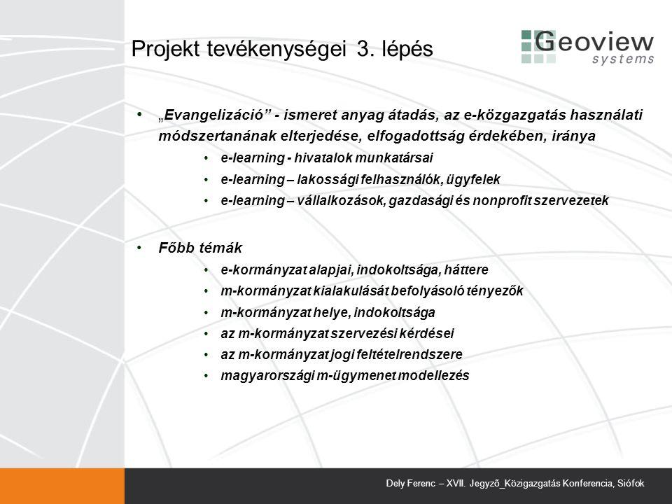 Projekt tevékenységei 3.