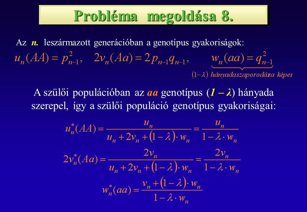 Probléma megoldása 8. Az n.
