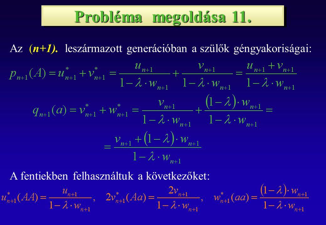 Probléma megoldása 11. Az (n+1).